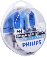 Купить автолампа Philips H4 DiamondVision 2pcs: цена от 514 грн.